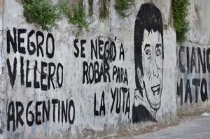 Mural para recordar porque asesinaron al joven Arruga