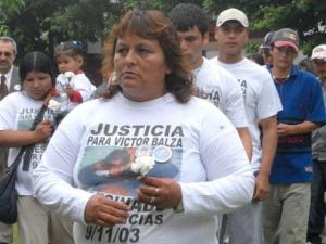 Nora Torres, madre de Victor