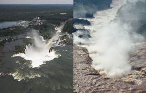 El desborde de las cataratas en 2013