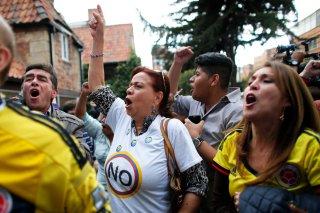 Festejos de los defensores del NO al acuerdo